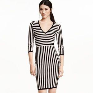NwoT H&M Navy striped jacquard sheath dress, SM